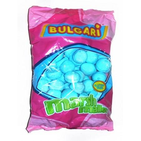 Golosinas esponjitas nubes bolas azules